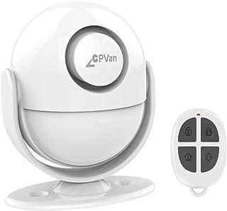 CPVAN Alarmas para Casa, Sensor de Infrarrojos y Detector de Movimiento con Control Remoto, Sirena de 125 dB, Sistema de Alarma Interior Antirrobo para el Casas, Garaje, Caravana. Modelo: CP2