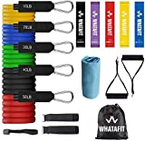 Product Image of the Whatafit Resistance Bands Set (17pcs), Exercise Bands with Door Anchor, Handles,...