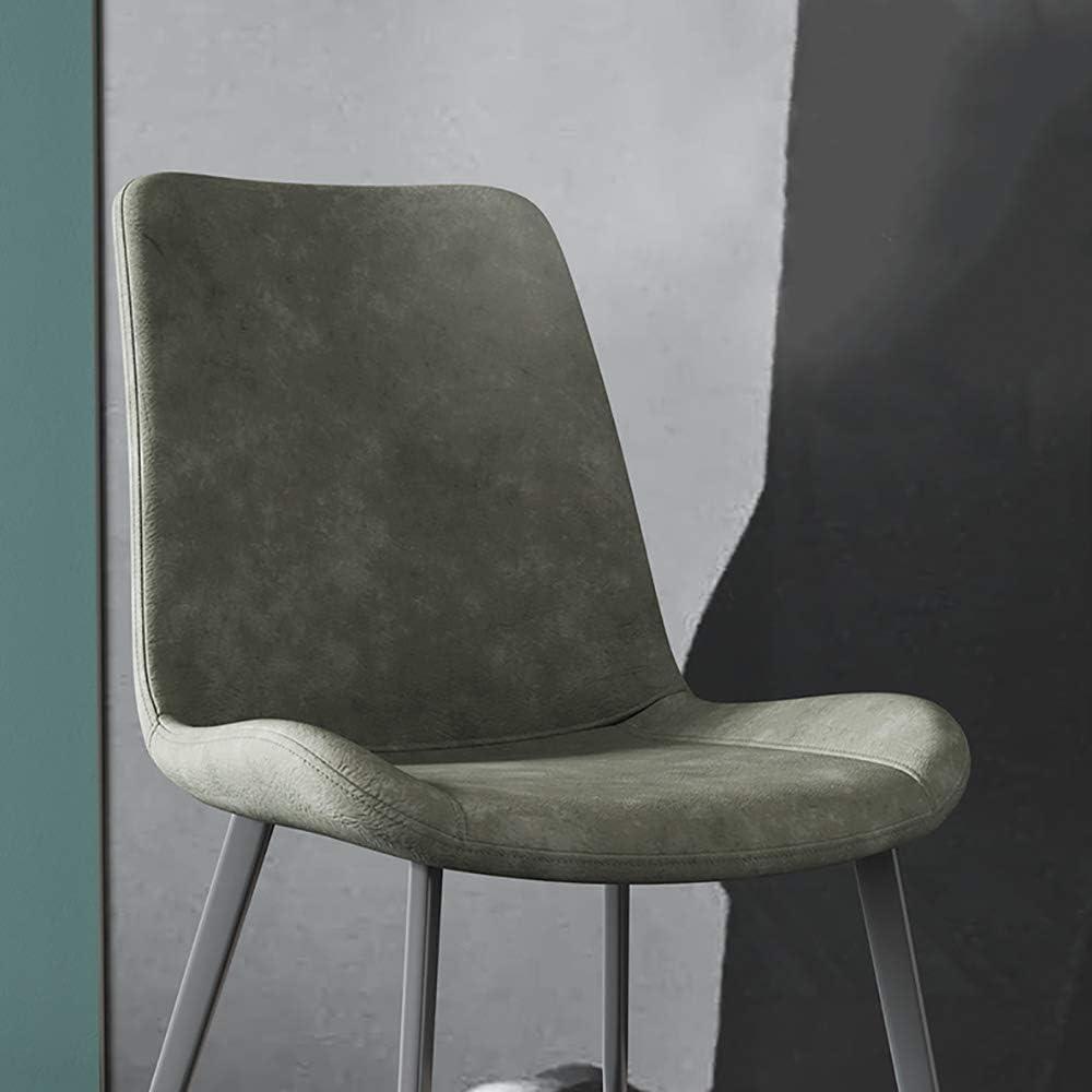 YYWDP Vintage Design Chaises en Faux Cuir Chaises De Cuisine en Métal Noir Jambes en Métal Lounge Loisir Chaise pour Salle À Manger Salon Bureau Maison Meubles,F C