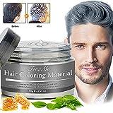 Haarfarbe Grau, Hair Wax, Graue Haarfarbe, Temporäre Haarwachs Grau, Silber Haarfärbemittel Wachs...