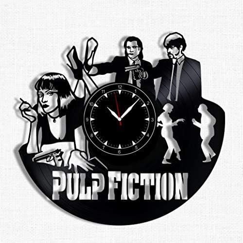 Pulp Fiction Vinyl Record Clock Wall Clock Pulp Fiction Best Gift for Pulp Fiction Lover Original product image