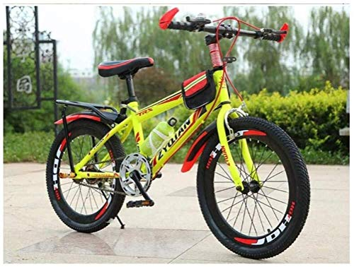 Wyyggnb Mountain Bike, Mountain Bike, Folding Bike 20 Inch 22 Inch 24 Inch Single Speed ​​High-Carbon Steel Hardtail Student Child Commuter City Bike (Color : Yellow, Size : 20 Inches)