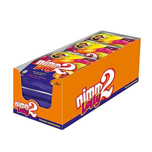 nimm2 Lolly – (6 x 120g Beutel) – Fruchtige Lutscher in vier unterschiedlichengeschmackskombinationen zum Naschen für dieganze Familie