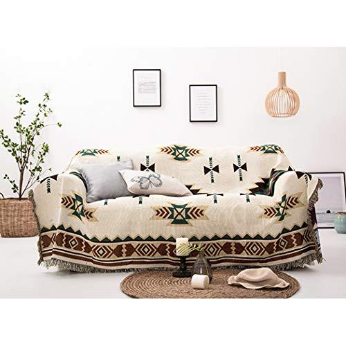 BINGMAX Überwurfdecke Baumwolle Modischer Böhmen Wohndecke Tagesdecke Sofa Bett Decke mit quaste für Kinder Erwachsene,Steppdecke für Couch (160 * 260, Sucreti-Blume)