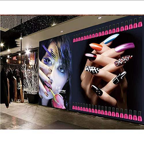 Dalxsh Tapete Für Wände 3 D Mural Benutzerdefinierte Kühle Schönheit Fototapete Nagelstudio Werkzeug Hintergrund Tapeten Wohnkultur-120X100Cm