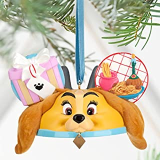 "US Disney Parkより""Lady and the Tramp Ear Hat Ornament /レディー ・アンド ・ザ・トランプ・イャー ・ハット・オーナメント"""