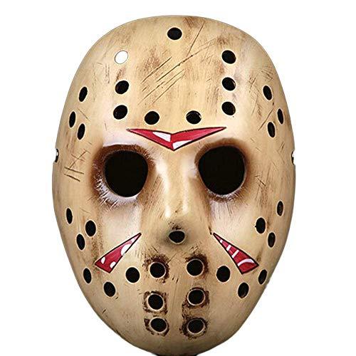 KCGNBQING ESTADOS Unidos Jason Voorhees Viernes The 13th Horror Movie Hockey Máscara de Hockey Mask Mask Beige (Color : Yellow)