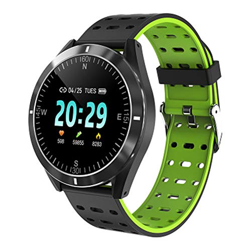 Gesundheitsuhr, Sport, Herzfrequenz, Blutdruck, Bluetooth, wasserdicht, geeignet für Outdoor, tägliches Tragen Stil Größe grün