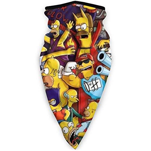Grtswp Cartoon The Simpsons Maske Stirnband Bandana – Outdoor Kopfbedeckung, Schal Bandana, breit, Headwrap Balaclava Tube Multifunktional