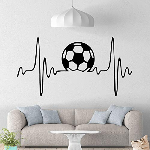 hetingyue Moderne fußball wandmalerei abnehmbare wandtattoo Dekoration Wohnzimmer Schlafzimmer abnehmbare wandbild 42x81cm