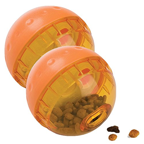 OurPets IQ Treat Ball Interactive Food Dispensing Dog Toy, 4 Inches (2 Pack)(colors may vary)