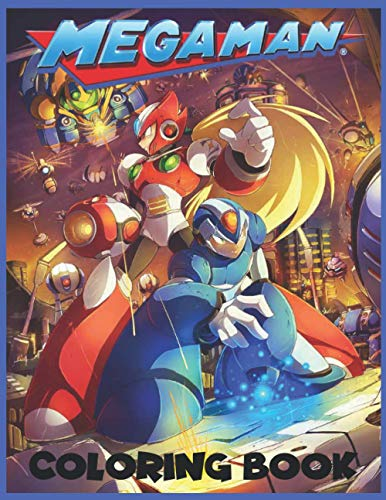 Megaman Coloring book: A Coloring Book For Kids With Cool and Fun...