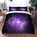 Juego de Fundas de edredón,Nebulosa Espacial con Supernova,Fundas Edredón 135 x 200 cmcon 1 Funda de Almohada 40x75cm