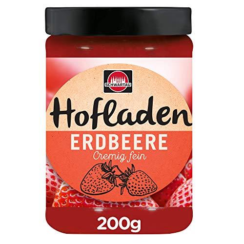 Schwartau Hofladen Erdbeere fein-cremig, Fruchtaufstrich, 200 g