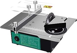 HTDHS Mini Sierra de Mesa multifunción, Sierra de Mesa eléctrica, Mini máquina de Sierra de Mesa portátil, para Bricolaje Modelo Manual/Tablero de PCB de Corte/Corte de Metales de plástico pequeño