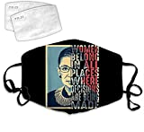 Secutoryang U.S. Supreme Court Justice Notorious RBG Cloth Face Mask Washable Anti Filter Dust Fabric Mouth Mask Reusable Custom