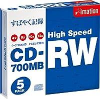 イメーション CDRW 700MB High-speedドライブ専用 スリムケース(5mm)1枚入り5枚パック CDRW80H BWX5