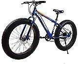 Ligero, Fat Tire bicicletas de montaña for Tall hombres y mujeres, marco de 17 pulgadas de alta de acero al carbono, de 7 velocidades, 26-pulgadas, llantas y 4,0 pulgadas de ancho neumáticos Liquidaci