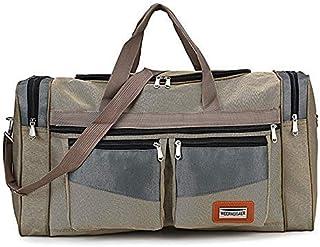 New Large Capacity Fashion Travel Bag for Man Women Weekend Bag Big Capacity Bag Nylon Portable Travel Carry Luggage Bags XA159K (Color : Khaki, Size : -)