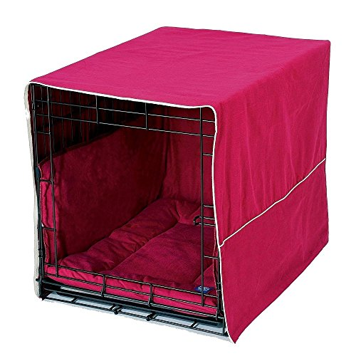 Pet Dreams Complete 3 Piece Crate Bedding Set! The Original Crate Cover, Crate Pad and Crate Bumper for Double Door Dog Crate. Medium Fits 30' Midwest Crate-Coco Brown