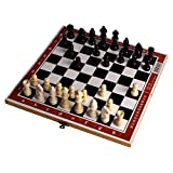 Soul hill Plegable ajedrez de Madera Set Standard Viajes Internacional de Ajedrez Juego de Mesa Juego de GJXQ-01 zcaqtajro