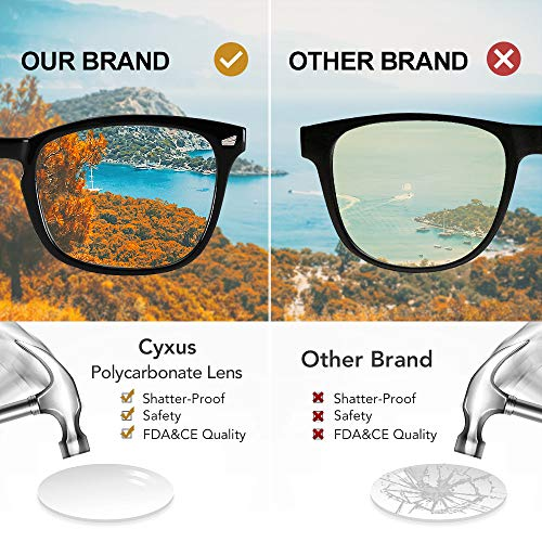51LSIgJYrOL - Cyxus Blue Light Filter Computer Glasses for Blocking Headache [Anti Eye Eyestrain] Transparent Lens Gaming Glasses, Unisex (Men/Women)