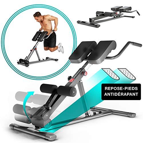 Sportstech Sain en 2019 - Banc de Musculation BRT150 6en1 avec Barre à dips pour Domicile, Hauteur réglable, Ergonomique, système de Pliage Facile, hyperextension Home Trainer (Argenté)