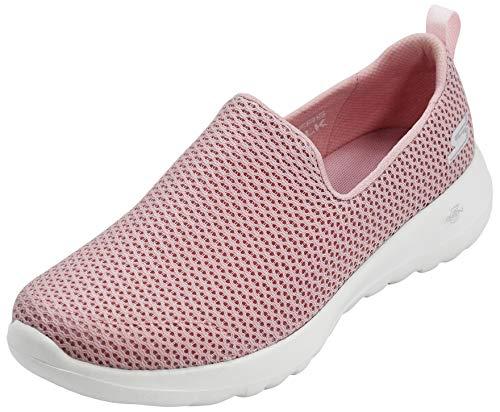 Skechers Women's Gowalk Joy Walking Shoe, Light Pink/White, 10 M US