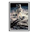 Dibujos animados nórdicos space planet astronauta imprimir imagen póster de pared pintura sala de...