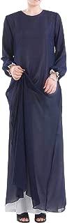 Cromoncent Womens Long Sleeve Gown Muslim Arab Reversible Abaya Maxi Dress
