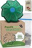 PandaBaw® Öko Waschball - [BONUS WÄSCHENETZ & EBOOK] - Waschen ohne Waschmittel - Waschkugel für...