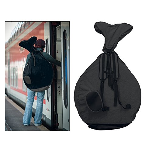 """Rucksack QU-AX für Einrad 20\""""; für Einrad, schwarz"""