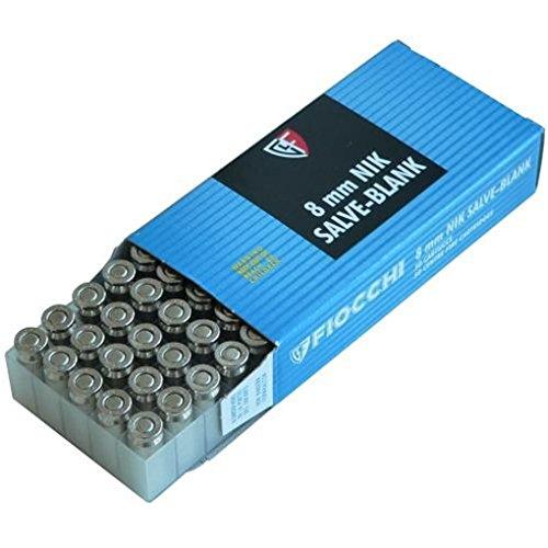 50 Cartucce a Salve FIOCCHI CALIBRO 8MM Cartucce per Pistole a Salve - ARMI DA SCENA e SPORTIVE Colpi a Salve per Armi Starter