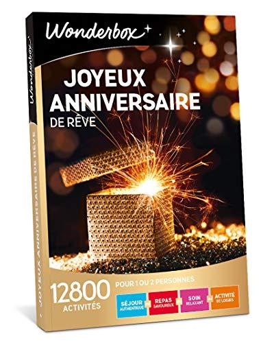 Wonderbox - Coffret cadeau celebration - JOYEUX ANNIVERSAIRE DE REVE - 12800 séjours de caractère, succulents repas, soins relaxants et activités de loisirs