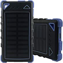 HaloAura Best Solar Portable Charger Dual USB Portable Charger Solar for Smartphones iPhone Android 20000mAh Emergency Solar Charging for Camping