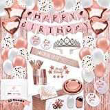 225 PC Rose Gold Birthday Party Decorations...