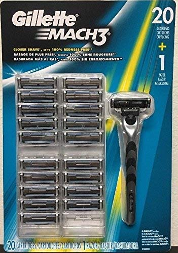 Price comparison product image Gillette Mach3 Men's Razor Blade Refills,  20 Count (packaging may vary),  Mens Razors / Blades