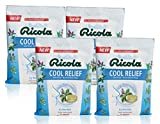 Ricola Cool Relief ICY Menthol Herbal Cough Suppressant Throat Drops, 19ct Bag (Pack of 4)