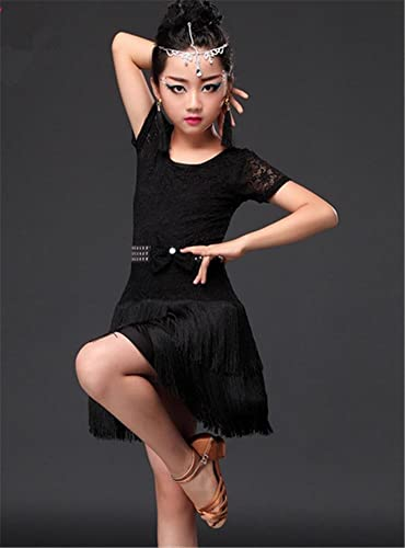Peiwen Danse Latine pour Enfants HabilleHommest Pratique Dance Dance Jupe Longue