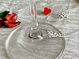 Personalized Wine Glass Charms Laser Cut Names Stainless Steel Place Cards Custom Signs Metal Gift Tags Wedding Place Setting Small Table Names Drink Markers Hole Baby Shower Decor Bridal Party Favors