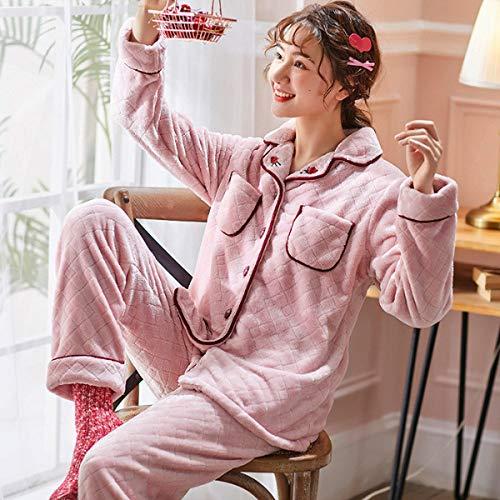 Handaxian El Pijama de Invierno para Mujer más la Franela