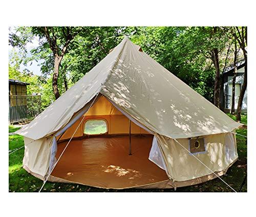 FZ FUTURE Tiendas de campaña de Lujo al Aire Libre, 8-10 Personas Oxford Cloth Yurt Bell Bell Tent, para Camping Familiar Glamping Senderismo y Festivales,3m