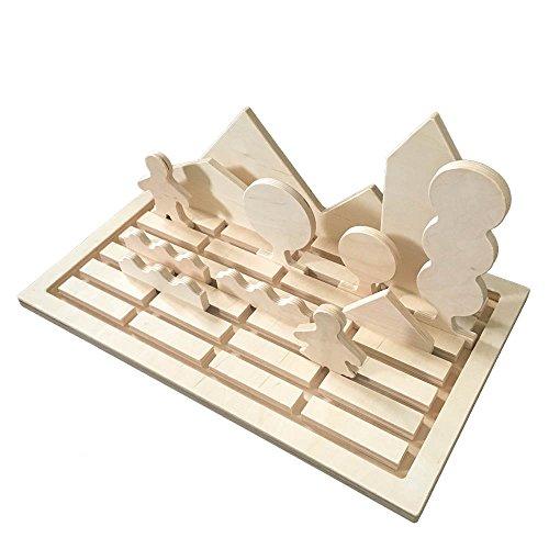 Holzlandschaft Holzspielzeug: ökologisch, FSC Holz, sozial hergestellt, Spielzeug ab 1 Jahr (inkl Zusatzset Gebäude)