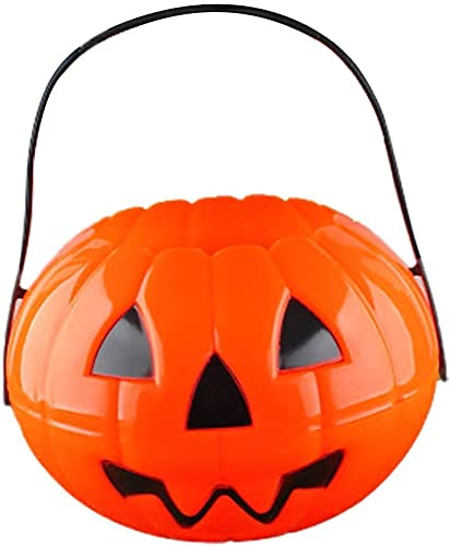 popular SegkopuoL Halloween discount Pumpkin Candy Bucket, Trick or Treat, Foldable and Detachable Pumpkin Candy Basket outlet online sale with Handle for Halloween Party Supplies (L) online sale
