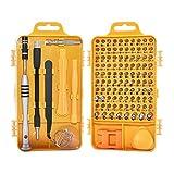 110-in-1 destornillador Set Profesional multifunción Electrónica Repair Tool Kit for el teléfono móvil/tableta/PC de puntas de destornillador (Color : Yellow)