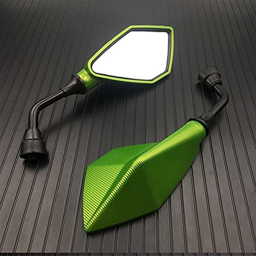 ACEACE Par de Motocicletas 10mm Universal Canal DE TELEVISIÓN BRITÁNICO Acessorios Moto Cross Parts Dirt Pit Bike Moto Bike (Color : Green)