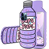 MME Cartoon iPhone 11 Case - 3D Character Boys Tears Case Cute Quicksand Soft Silicone Case Slim Rubber Full Body Protection Case for Girls Woman Teens (Boys Tears - Purple, 11)