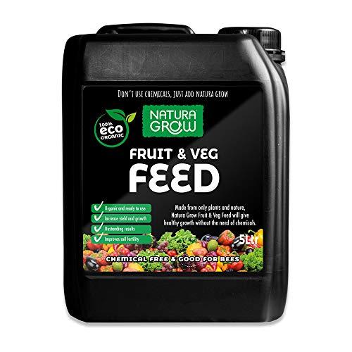 Natura Grow Fruit & Veg Feed 5L Liquid   Peat-free, organic, natural...