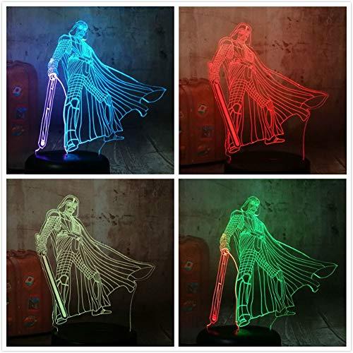 New Star Sci-Fi Film Kriege Darth Vade Chang Luminaria 3D LED Nachtlicht USB Tischlampe Kinder Geburtstagsgeschenk Nachtzimmer Dekoration