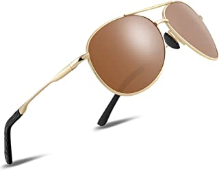FEIDU Sunglasses man - Pilot sunglasses mens with Ultra-Light Metallic Metal Frame and Women Mens sunglasses FD9002